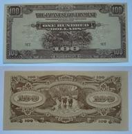 Malaya  Japanese Occupation WW2, 100 Dollars, The Japanese Government UNC - Malaysia