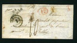 LETTRE  D'ESPELETTE  CAD  DU  1ER DECEMBRE  1843  POUR  BELLAY - Storia Postale