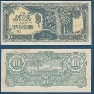 Malaya  Japanese Occupation WW2, 10 Dollars, The Japanese Government UNC - Malaysia