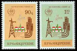 Albania, 1988, WHO, World Health Organization, 40th Anniversary, United Nations, MNH, Michel 2356-2357 - Albanie