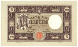 1000 LIRE BARBETTI GRANDE M - CONTRASSEGNO DECRETO 19/08/1921 PRIMA DATA SPL+ - [ 1] …-1946 : Koninkrijk