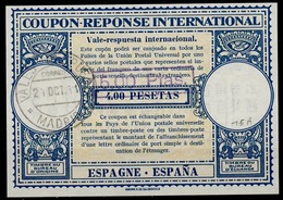 ESPAGNE / SPAIN Lo15A 5,00 Ptas / 4,00 P.International Reply Coupon Reponse Antwortschein IRC IAS O MADRID VALES DE - Ganzsachen