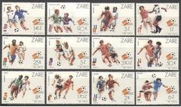 ZAIRE 1982  - CAMPEONATO DEL MUNDO DE FUTBOL ESPAÑA-82 - YVERT 1073-1084** - 1980-89: Nuevos