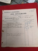 DOCUMENTO   3 OUTUBRO 1910  Machinas E Accessorios - Portugal