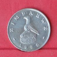 ZIMBABWE 20 CENTS 1988 -    KM# 4 - (Nº30553) - Zimbabwe