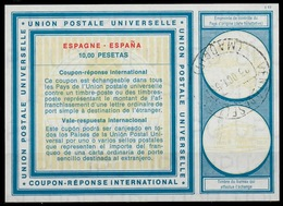 ESPAGNE / SPAIN Vi19 10,00 PESETASInternational Reply Coupon Reponse Antwortschein IRC IAS O MADRID 23.10.68 - Ganzsachen