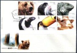 PORTUGAL, 2001, FAUNA, LISBON ZOO ANIMALS, CE#2792-97, FDC - FDC