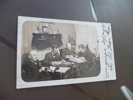 Carte Photo Personnages écrivains Littérature ? Autographe Ripp Danmark Norvège - Autogramme & Autographen