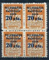 BARCELONA  Telegrafos     Nº 5  Bloque-Sin Charnela -119 - Barcelona