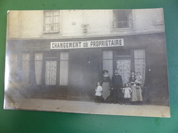 RARE CARTE PHOTO CAFE JEANNE CHALON SUR SAONE ANIMEE  ECRITE - Chalon Sur Saone