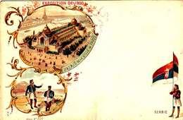 *CPA: EXPOSITION UNIVERSELLE 1900- SERBIE - RECTO - LITHOGRAPHIE - 1900 – Paris (France)