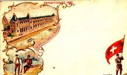 *CPA: EXPOSITION UNIVERSELLE 1900- SUISSE - RECTO - LITHOGRAPHIE - 1900 – Paris (France)