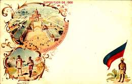 *CPA: EXPOSITION UNIVERSELLE 1900-ESPLANADE DES INVALIDES- RECTO - LITHOGRAPHIE - 1900 – Pariis (France)