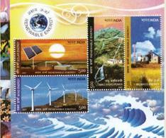 5X INDIA 2007 Renewable Energy; Miniature Sheet, MINT - India