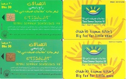 United Arab Emirates (UAE) Chip Phone Cards, 2-Cards With Different Chips - United Arab Emirates
