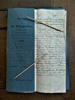 éTUDE  DE Me.  D'HUYGELAERE   1846    NOTAIRE  A    ALOST - Belgique