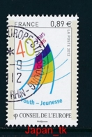 FRANKREICH DIENSTMARKE Mi. Nr. 70 40 Jahre Europäisches Zentrum Der Jugend - Europa Mitläufer - 2012 - Used - Europa-CEPT