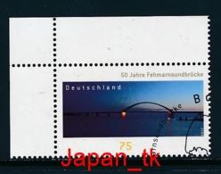 GERMANY Mi. Nr.  3001  50 Jahre Fehmarnsundbrücke - Europa Mitläufer - 2013 - Used - 2013