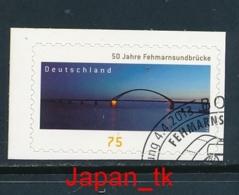 GERMANY Mi. Nr.  3003  50 Jahre Fehmarnsundbrücke - Europa Mitläufer - 2013 - Used - 2013