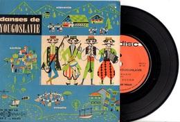 FOLKLORE DANSES DE YOUGOSLAVIE - ANNEES 60 - 33T FORMAT 45T - AVEC ENCART  - EXC ETAT - - World Music