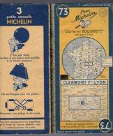 Carte Géographique MICHELIN - N° 073 CLERMON Fd - LYON 1950-2 - Cartes Routières