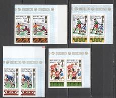 SS311 !!! IMPERFORATE 1970 RWANDA RWANDAISE SPORTS FOOTBALL WORLD CUP MEXICO 1970 2SET MNH - 1970 – Mexique