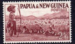 Papua New Guinea 1953-8 2/6d Shepherd & Flock, MNH, SG 13 - Papouasie-Nouvelle-Guinée