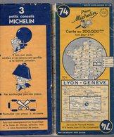 Carte Géographique MICHELIN - N° 074 LYON - GENEVE 1950-2 - Cartes Routières