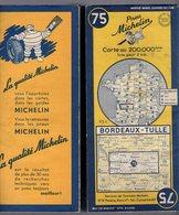 Carte Géographique MICHELIN - N° 075 BORDEAUX - TULLE 1952 - Cartes Routières