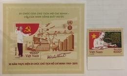 Viet Nam Vietnam Perf Stamp & Souvenir Sheet  2019 :50th Years Of Pres. Ho's Testament (Ms1114) - Vietnam