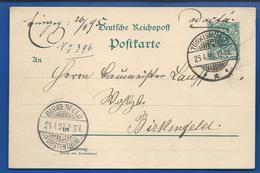 POSTKARTE à 5 Deutches Reich   Oblitétération:TURKISMÜHLE  25-4-1895 - Brieven En Documenten