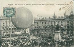 54 NANCY / Le Lancement Du Ballon Fête Nationale Du 14 Juillet 1905 / - Nancy