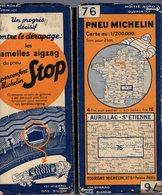 Carte Géographique MICHELIN - N° 076 AURILLAC - St ETIENNE N° 3428-107 - Cartes Routières