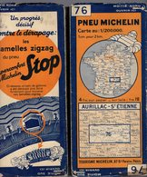 Carte Géographique MICHELIN - N° 076 AURILLAC - St ETIENNE N° 3428-107 - Wegenkaarten