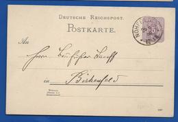 POSTKARTE à  5  Deutches Reich   Oblitétération:  NOHFELDEN 26-6-1888 - Brieven En Documenten