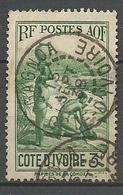COTE D'IVOIRE N° 129 CACHET  GAGNOA - Costa D'Avorio (1892-1944)