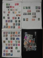 SPAIN 3 Pages From Old Album  (96 Stamps) And One Envelope With More Than 200 Stamps (total 300 Stamps) - Sammlungen