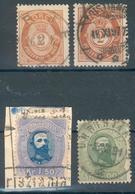 Norwegen Mi.-Nr.32/33o, 51a,bo, Feinst, Michel 61€ - Usati