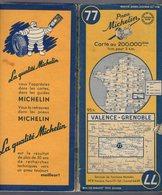 Carte Géographique MICHELIN - N° 077 VALENCE - GRENOBLE 1951-2 - Cartes Routières