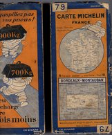 Carte Géographique MICHELIN - N° 079 BORDEAUX - MONTAUBAN N ° 2640-24 - Cartes Routières