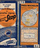 Carte Géographique MICHELIN - N° 079 BORDEAUX - MONTAUBAN N ° 3421-99 - Cartes Routières