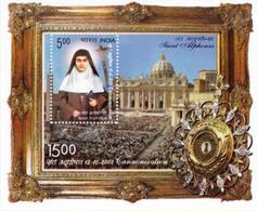 5X INDIA 2008 Saint Alphonsa; Miniature Sheet, MINT - India