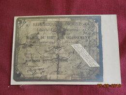 CPA - Paris - Siège De Paris 1871 - Carte De Boucherie Donnant Droit à 30 Grs De Viande De Cheval Par Jour - District 08