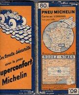 Carte Géographique MICHELIN - N° 080 - RODEZ - NIMES N° 3222-88 - Cartes Routières