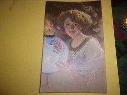 Tres Belle Carte Transparence Lettre Trefle Femme A La Lampe / LANTERNE N° 15662 - Illustrators & Photographers