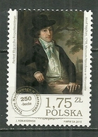 POLAND MNH ** 4450 Théatre National De Varsovie Wojciecha Boguslawskiego Acteur - 1944-.... Republik
