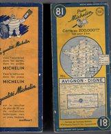 Carte Géographique MICHELIN - N° 081 AVIGNON - DIGNE 1950 - Cartes Routières