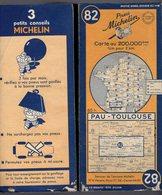 Carte Géographique MICHELIN - N° 082 PAU - TOULOUSE  1948 - Cartes Routières