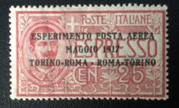 POSTA AEREA - 20 Maggio 1917 Vittorio Emanuele III - Esperimento Di Posta Aerea - 1900-44 Vittorio Emanuele III