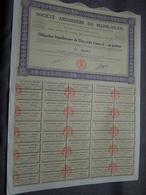 Soc. Ardoisière Du MAINE-ANJOU : Obligation 500 Francs 8% Au Porteur : N° 00,013 ( Voir Photo ) - Shareholdings